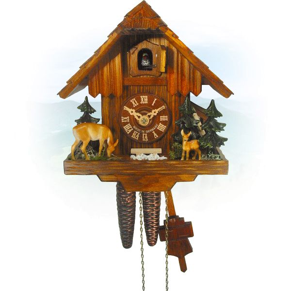Cuckoo Clock Regina, August Schwer: forest hut deere