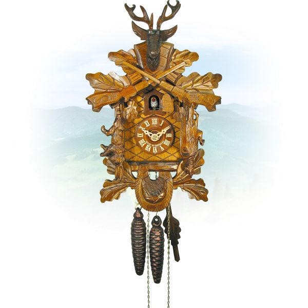 Cuckoo Clock El Paso, August Schwer: Hunting clock antique