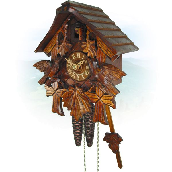 Cuckoo Clock Winnipeg, August Schwer: house, 3-leaves, birds
