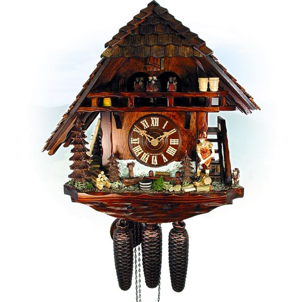 Cuckoo Clock Kanada, August Schwer: wood maker house