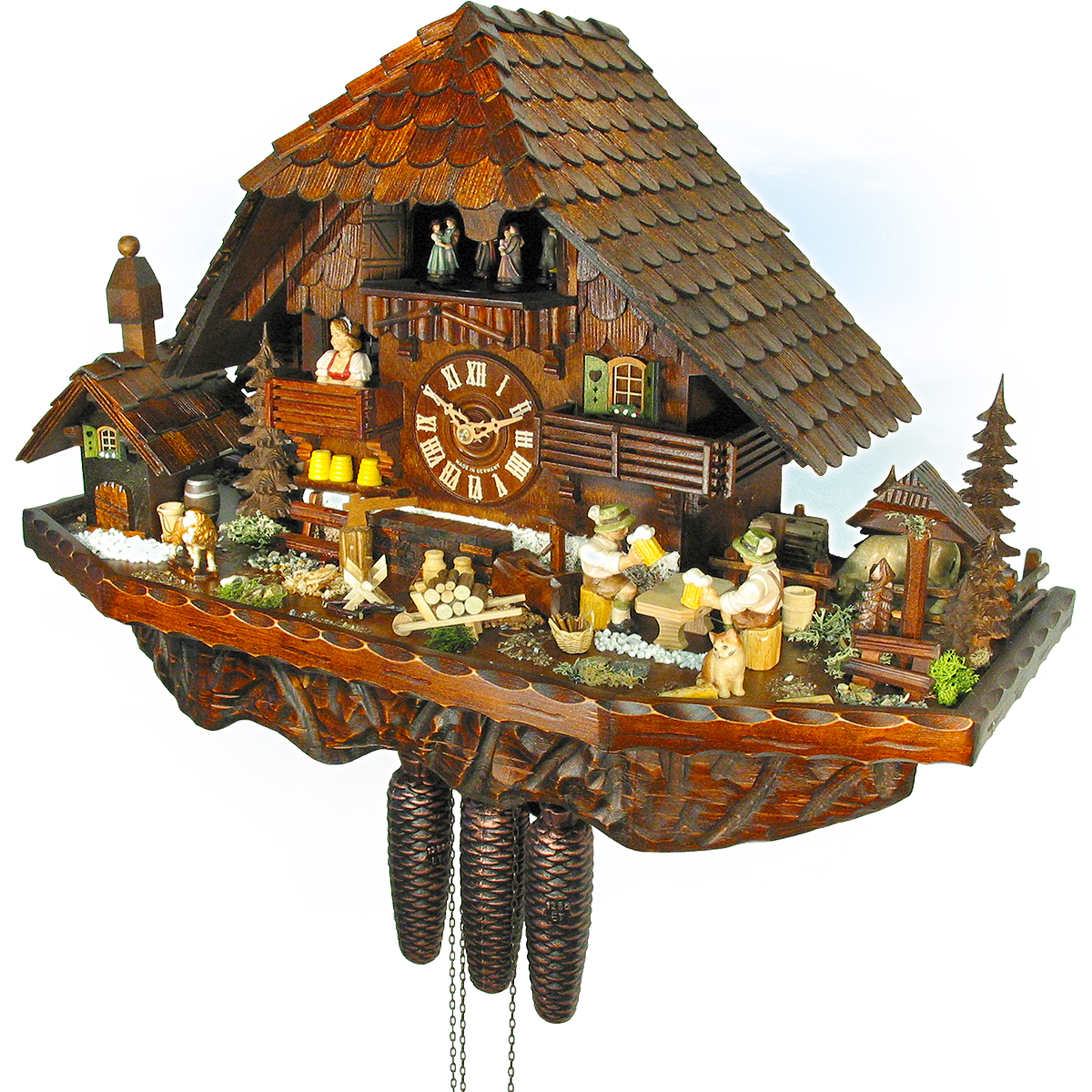 Cuckoo Clocks As Black Forest House In Chalet Style | Your Cuckoo Clock.com