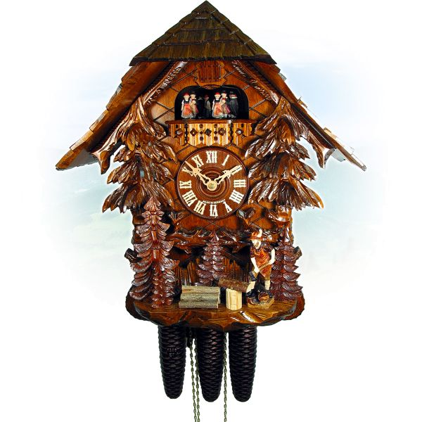 Cuckoo Clock Paris, August Schwer: house, wood maker
