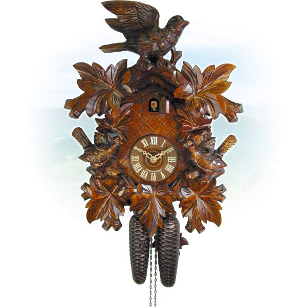 Cuckoo Clock Villingen-Schwenningen, August Schwer: 3-bird, deep