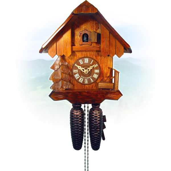 Cuckoo Clock Heilbronn, August Schwer: house, trough, tree