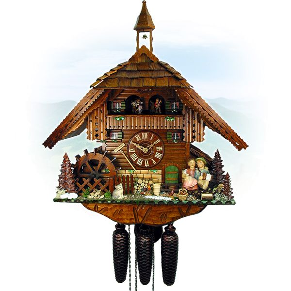 Cuckoo Clock Liverpool, August Schwer: romantic kiss clock