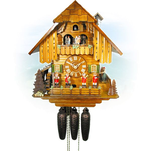 Cuckoo Clock Schaffhausen, August Schwer: Black Forest house, Musicians