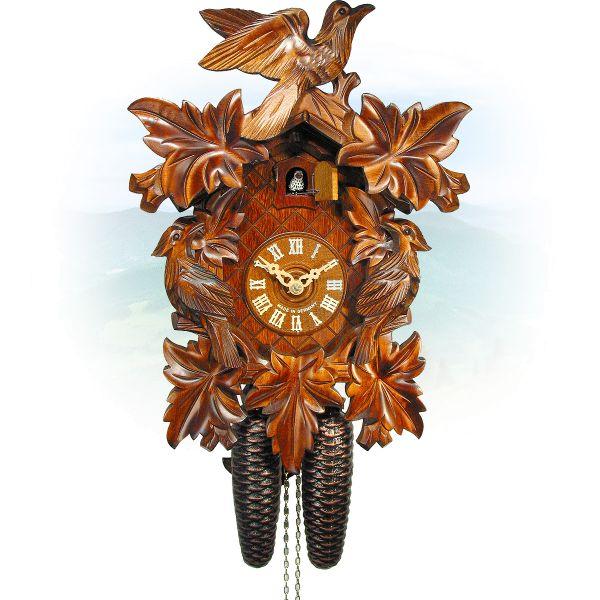 Cuckoo Clock Mannheim , August Schwer: 7-leaves, 3-bird