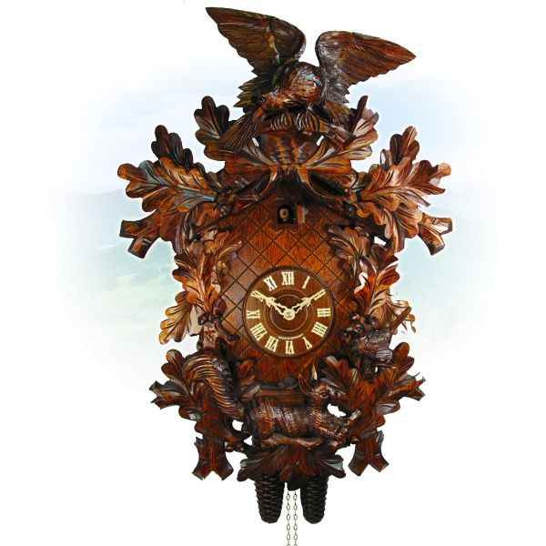 Cuckoo Clock Barcelona, August Schwer: eagle, squirrel