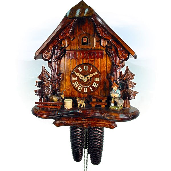 Cuckoo Clock Bottrop, August Schwer: house, goatherd