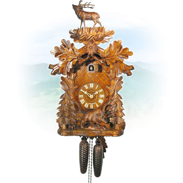 Cuckoo Clock Sevilla, August Schwer: deer & boar