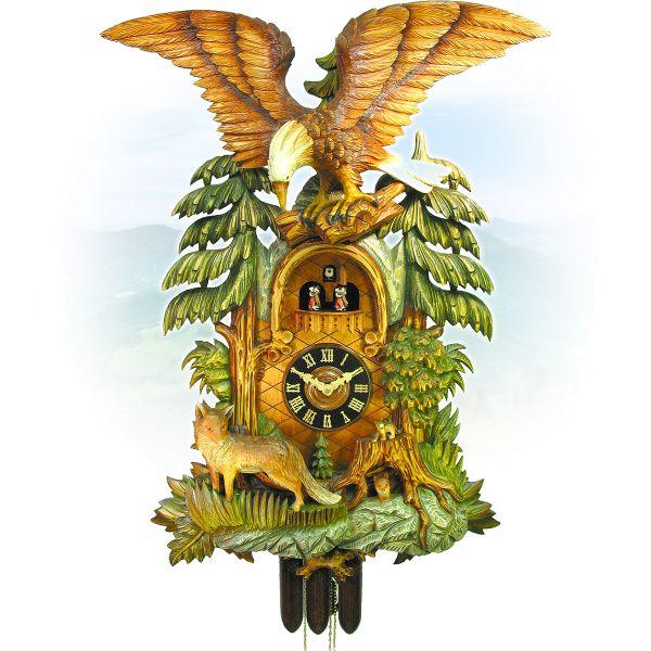 Cuckoo Clock Messina, August Schwer: fox, eagle