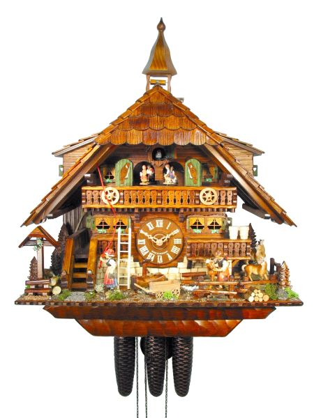 Cuckoo Clock Lille, August Schwer: pony farm VDS winner clock 2007