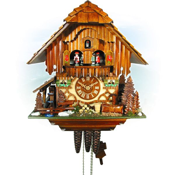 Cuckoo Clock Girona, August Schwer: Black Forest House, bambi deer