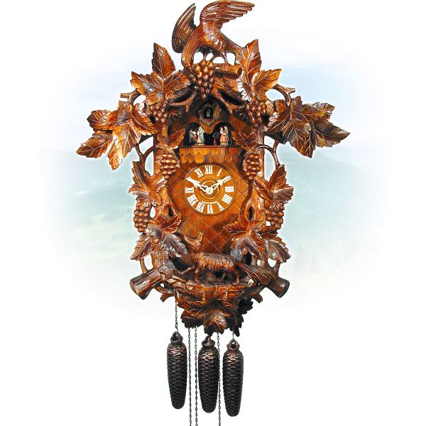 Cuckoo Clock Monza, August Schwer: large fox grape clock