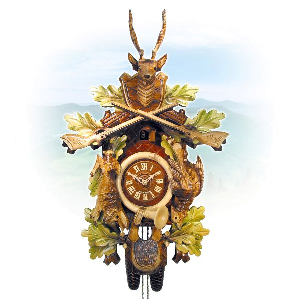 Cuckoo Clock Paderborn, August Schwer: Hunting clock