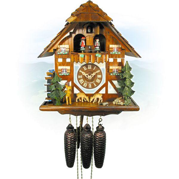 Cuckoo Clock Biel Bienne, August Schwer: bouncing deere