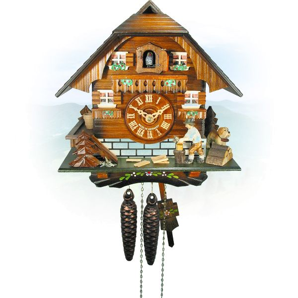 Cuckoo Clock Vaughan, August Schwer: woodchopper house
