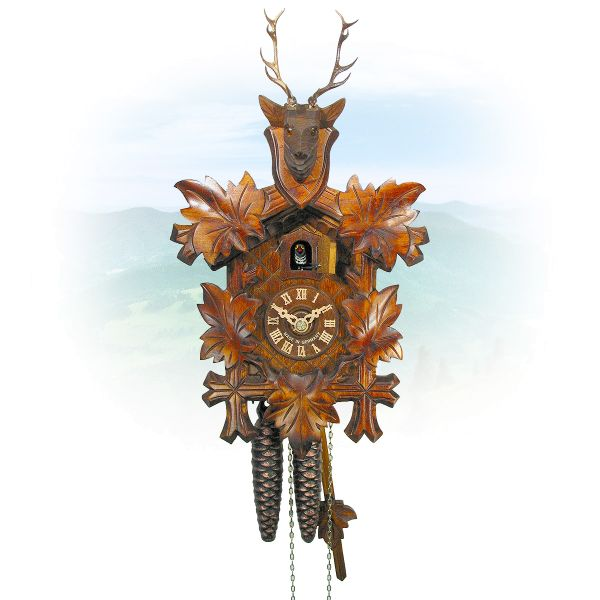 Cuckoo Clock San Francisco, August Schwer: 5-leaves, Dear Head