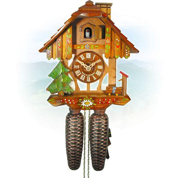 Cuckoo Clock Ulm, August Schwer: half timbered, chimneysweep