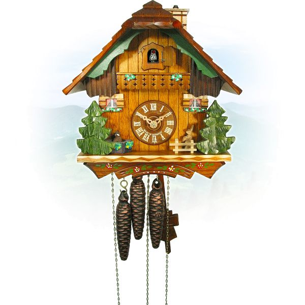 Cuckoo Clock Fuenlabrada, August Schwer: marmot, rabbit, chimneysweep