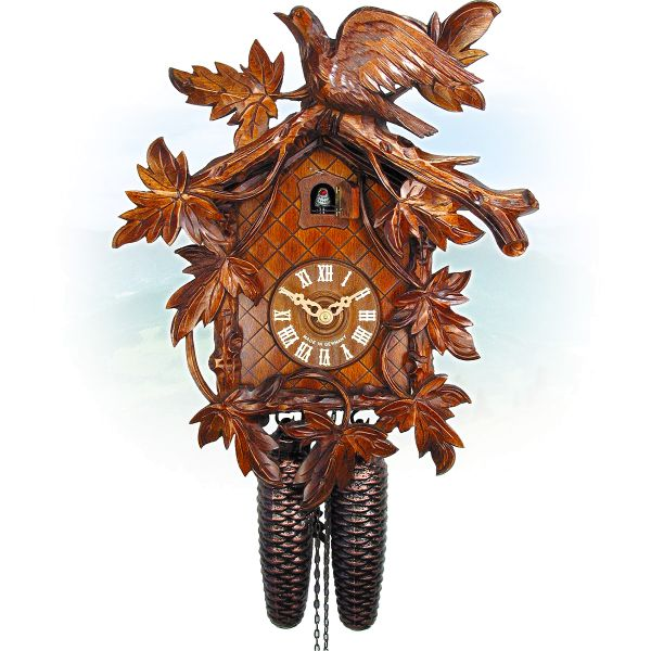Cuckoo Clock Schwerin, August Schwer: 8-leaves, bird