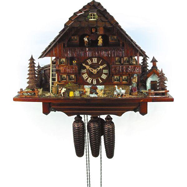 Cuckoo Clock England, August Schwer: old farm