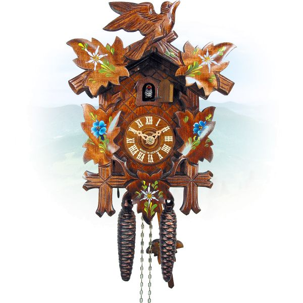 Cuckoo Clock Albuquerque, August Schwer: 5-leaves, 1-bird