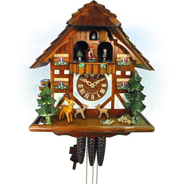 Cuckoo Clock Cornellà, August Schwer: bouncing deere