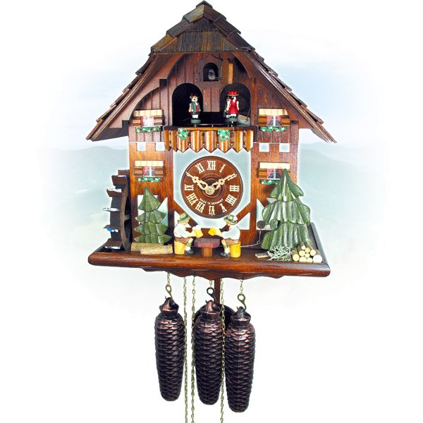 Cuckoo Clock Thun, August Schwer: house, double beerdrinker