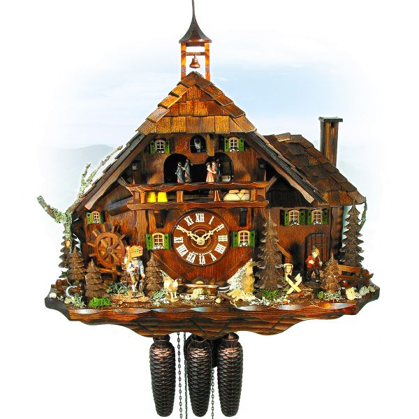 Cuckoo Clock Jerusalem, August Schwer: Black Forest farm