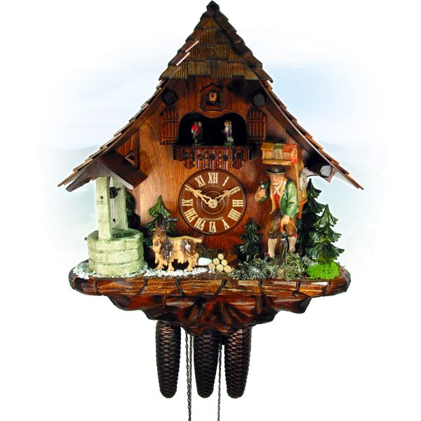 Cuckoo Clock Vicenza, August Schwer: pitched roof, clock peddler