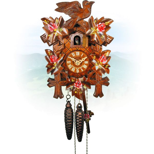 Cuckoo Clock San Jose, August Schwer: 5-leaves, 1-bird
