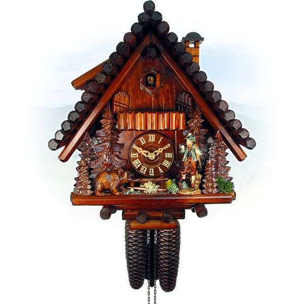 Cuckoo Clock Salzgitter, August Schwer: Ferndobel, hunter, bear