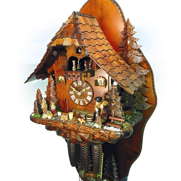 Cuckoo Clock Kopenhagen, August Schwer: witchhouse with rear wall