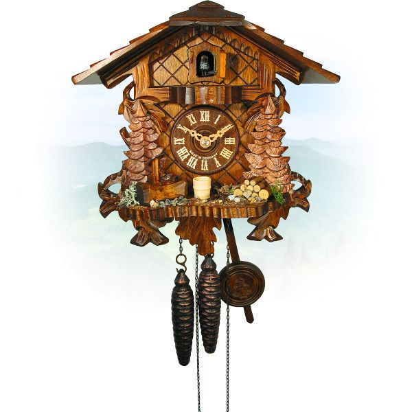 Cuckoo Clock Oshawa, August Schwer: 3-leaves, with console