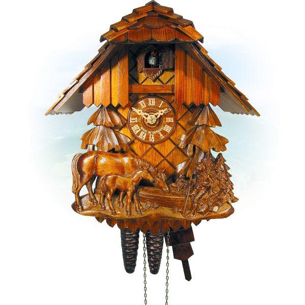 Cuckoo Clock Oakville, August Schwer: Relief, horse, child