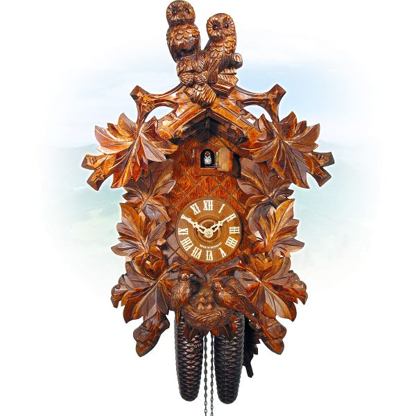 Cuckoo Clock Lünen, August Schwer: owls, nest