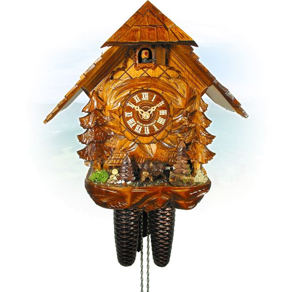 Cuckoo Clock Trier, August Schwer: house, wild boar