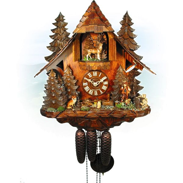 Cuckoo Clock Australia, August Schwer: Forsthouse, rotary table