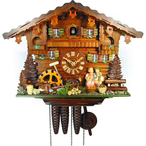 Cuckoo Clock Burgos, August Schwer: small kiss clock