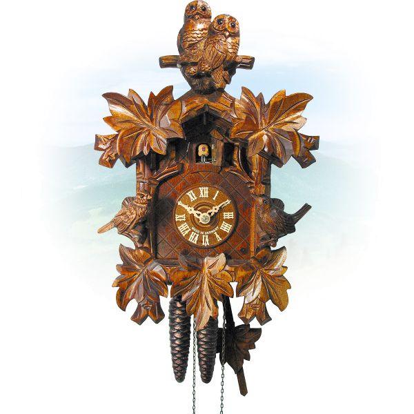 Cuckoo Clock Nürnberg , August Schwer: sparrow, owl