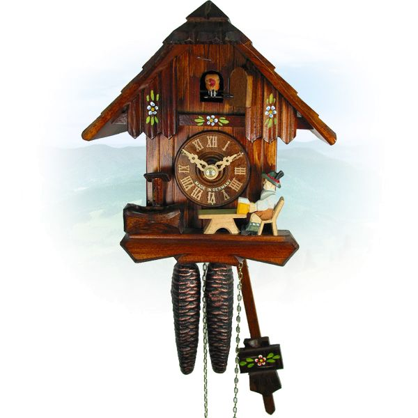 Cuckoo Clock Burlington, August Schwer: house, beerdrinker