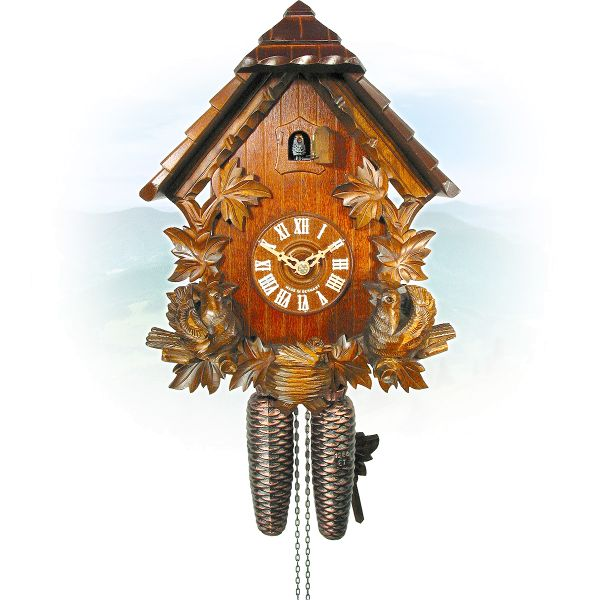 Cuckoo Clock Saragossa, August Schwer: pointedroof, larkn
