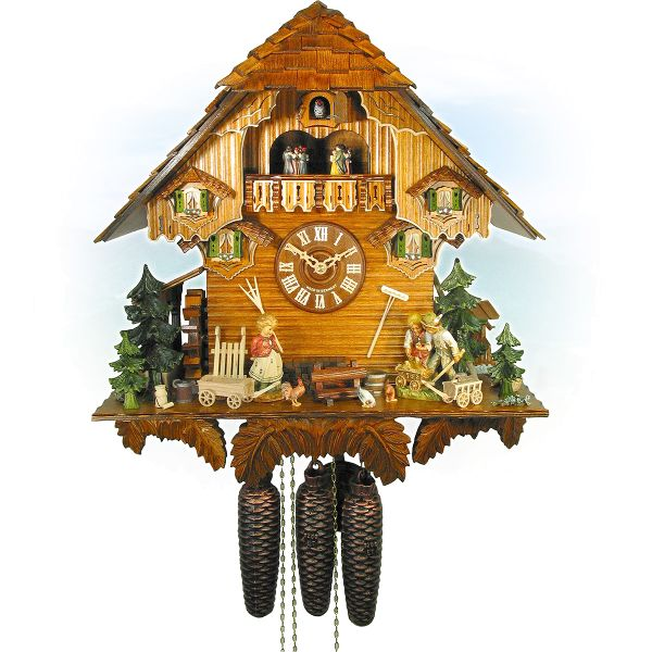 Cuckoo Clock Brussels, August Schwer: Chalet cart-clock