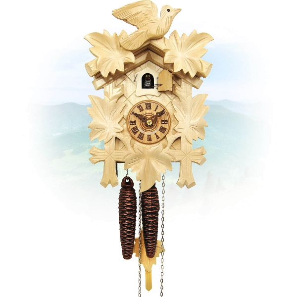 Cuckoo Clock Indianapolis, August Schwer: 5-leaves, 1-bird