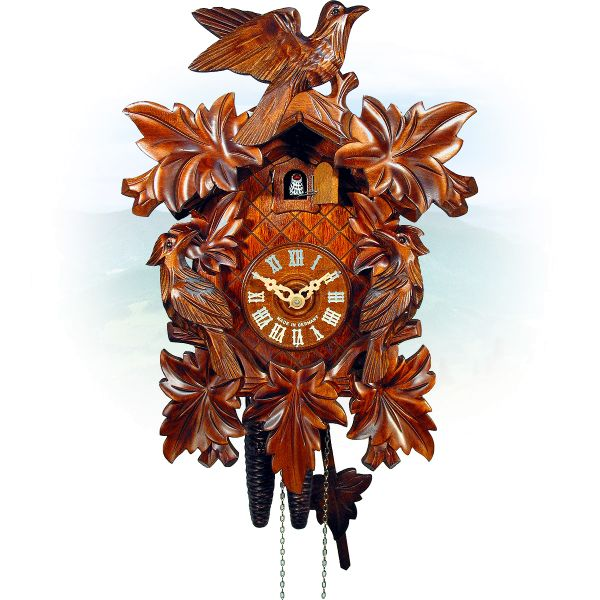 Cuckoo Clock Tulsa, August Schwer: 7-leaves, 3-bird