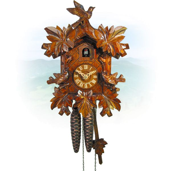 Cuckoo Clock Leipzig , August Schwer: 3-bird, deep