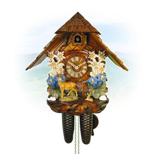 Cuckoo Clock Moers, August Schwer: Edelweiss, deers