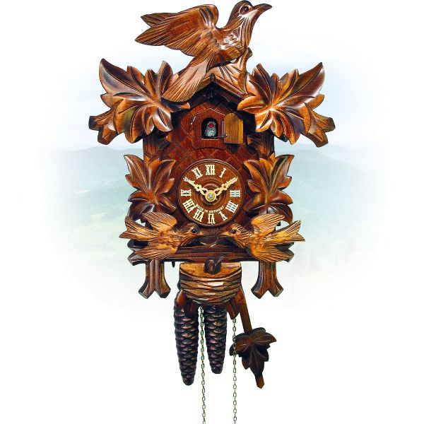 Cuckoo Clock Kansas City, August Schwer: 4-leaves, seesaw, nest