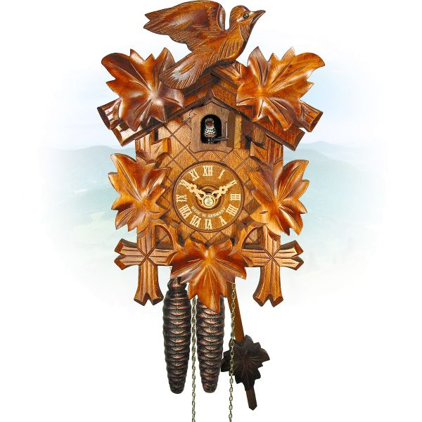 Cuckoo Clock Chicago, August Schwer: 5-leaves, 1-bird